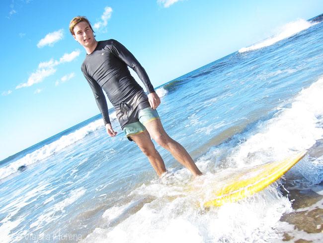 Surfing on Las Peñitas beach